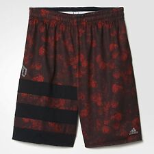 ADIDAS DAME FLORAL SHORTS AO4061 MENS LARGE VIVID RED/POWER RED BASKETBALL WEAR