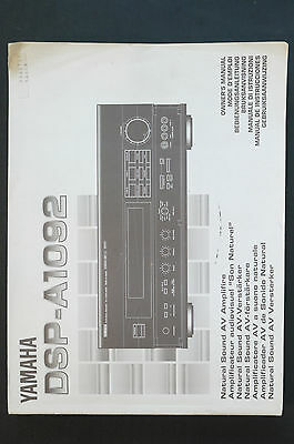 Vorsichtig Yamaha Dsp-a1092 Av Amplifier Orig. Bedienungsanleitung/user Manual Top-zust.! Waren Jeder Beschreibung Sind VerfüGbar