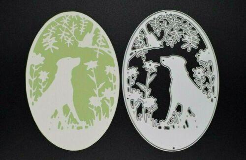 Pet Artesanías *** *** vendedor de Reino Unido B8 elaboración de tarjetas Metal Perro campo de corte morir