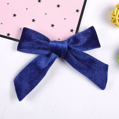 Kids Baby Candy Color  Velvet Bowknot Headband Girls Cute Hair Band Clip Hairpin