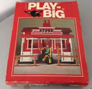 70s#vintage Play-big Playmobil Cowboy Store Far West Set Playset #nib Performance Fiable