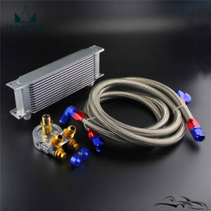 Universal Adapter Engine Racing Fuel Oil Cooler Kit For CAR//TRUCK