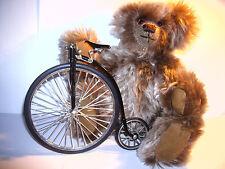 Miniatur Fahrrad Hochrad Modell bau Deko Teddybär Wheeler Velociped Velo Vintáge