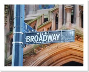 Image Is Loading Broadway New York City Art Print Home Decor