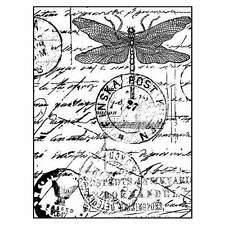 Crafty Individuals DRAGONFLY POST Unmounted Red Rubber Stamps
