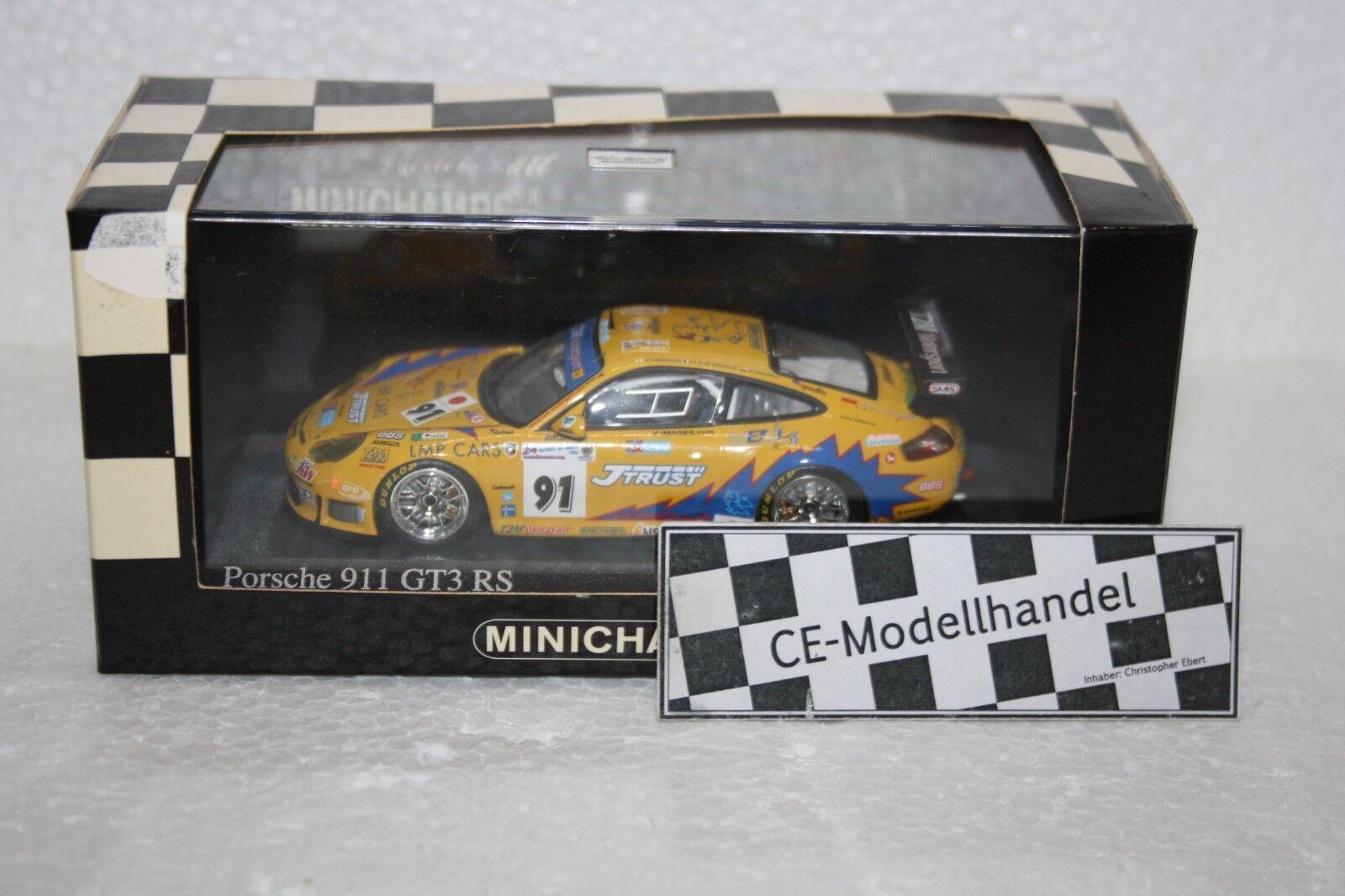Porsche 911 GT3 RS   91 24h Le Mans • 2006 • Minichamps • 1 43  | Fein Verarbeitet