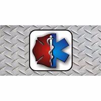 Emt And Firefighter License Plate