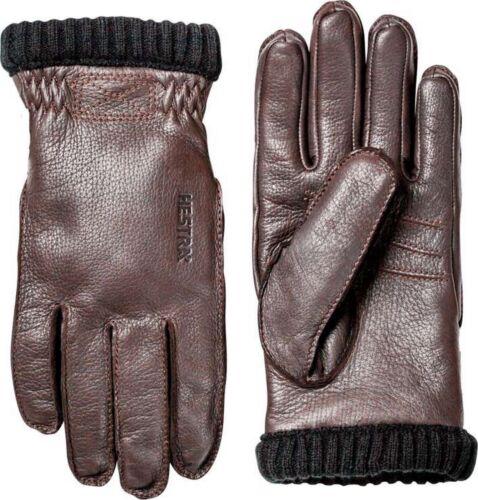 HESTRA Herren Leder Freizeithandschuh Deerskin Primaloft Rib Handschuh *NEU*