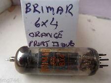 6x4 BRIMAR Arancione Stampa square getter USATO VECCHIO STOCK VALVOLA TUBE AP14 un
