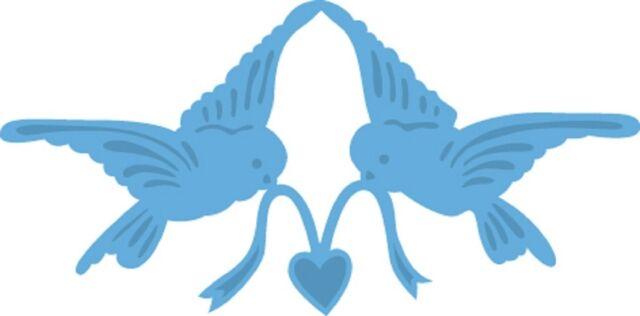 Marianne CREATABLES Die Cutting & Embossing Stencil TINY'S LOVE BIRDS LR0298