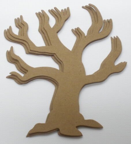 """Halloween Bare Unfinished Chipboard Die Cuts {3} GOTHiC HOLLOW TREE 5 1//8/"""""""