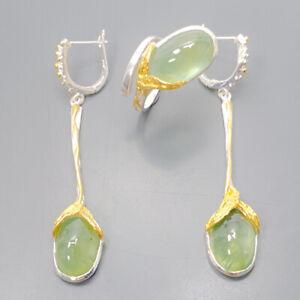 Prehnite-Ring-Silver-925-Sterling-SET-Vintage-Size-7-5-R129204