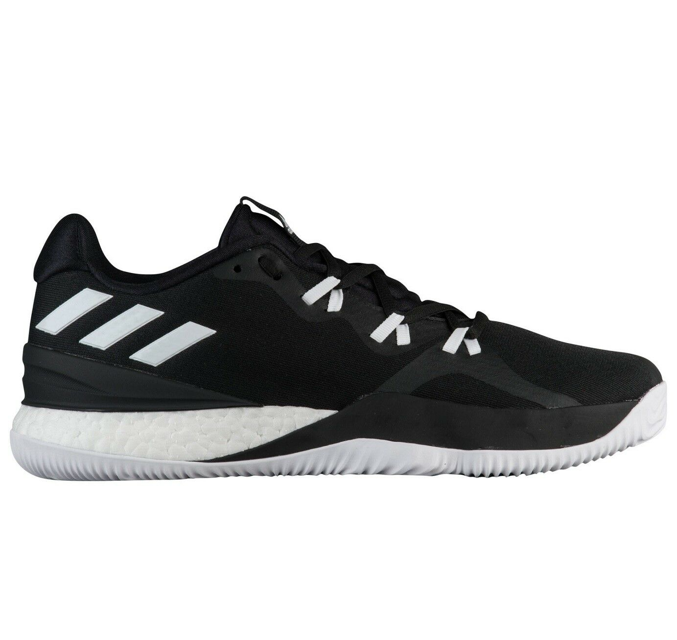 Adidas Crazy Light Boost 2018 Mens DB1070 Black White Basketball Shoes Comfortable