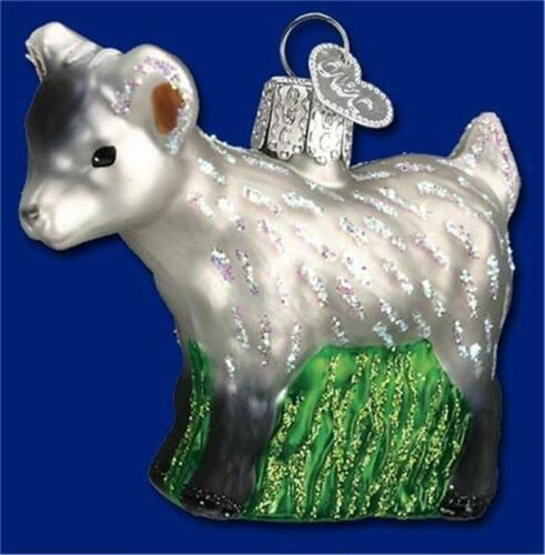 Goat Christmas Ornament.Details About Gray Pygmy Goat Old World Christmas Blown Glass Farm Animal Ornament Nwt 12285