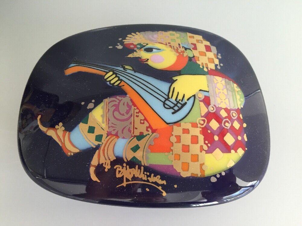Rosenthal 1001 Nuit Wiinblad Coupelle avec Couvercle 15x12 cm Bowl