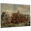 Battle of Waterloo Quatre Bras War Framed Canvas Print Ready To Hang