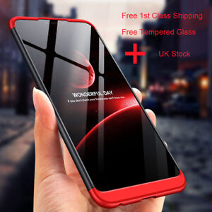 new style f996b 13d59 Details about 360° Full Cover Shockproof Hard Case For Xiaomi Redmi 6A Note  5 6 7 Pro+Glass