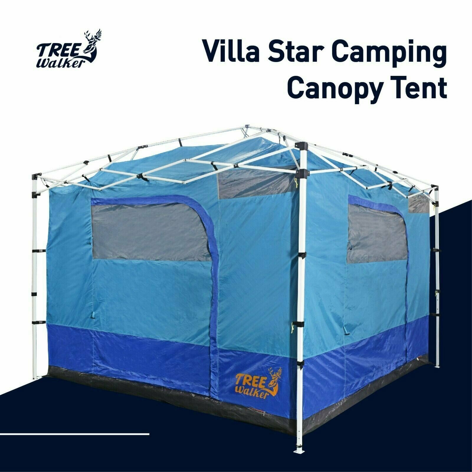 Villa Star Camping Canopy Tent Standing Room Hanging Connect Tents Ebay