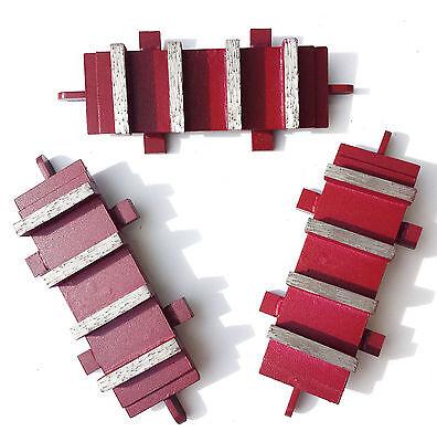NEW 3PK 60//80 Grit EDCO Diamond Grinding Blocks Dyma-Sert PREMIUM QUALITY