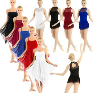 Adult-Women-039-s-Leotard-Ballet-Dance-Dress-Contemporary-Lyrical-Gymnastics-Costume
