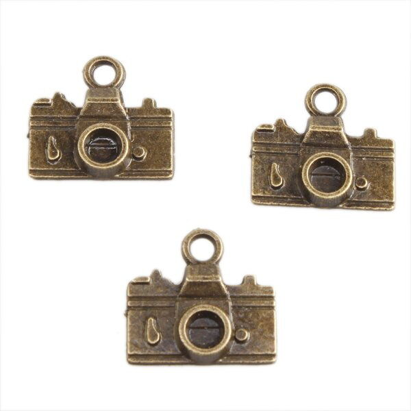60x 141451 Wholesales Bronze Small Camera Charms Alloy Pendants Findings