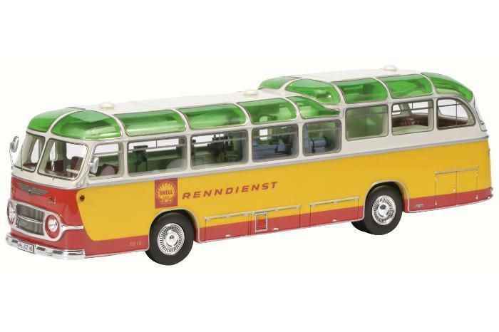 Schuco 1 43 Neoplan FH 11 Shell racing service jaune   rouge 450896500