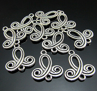 FREE Tibetan silver Chinese knot Pendant spacer connectors Findings Bails 23MM