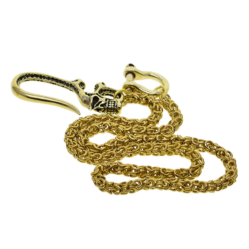 53cm Men Jeans Chain Trucker Biker Snake Chain Rock Musician Copper Chain