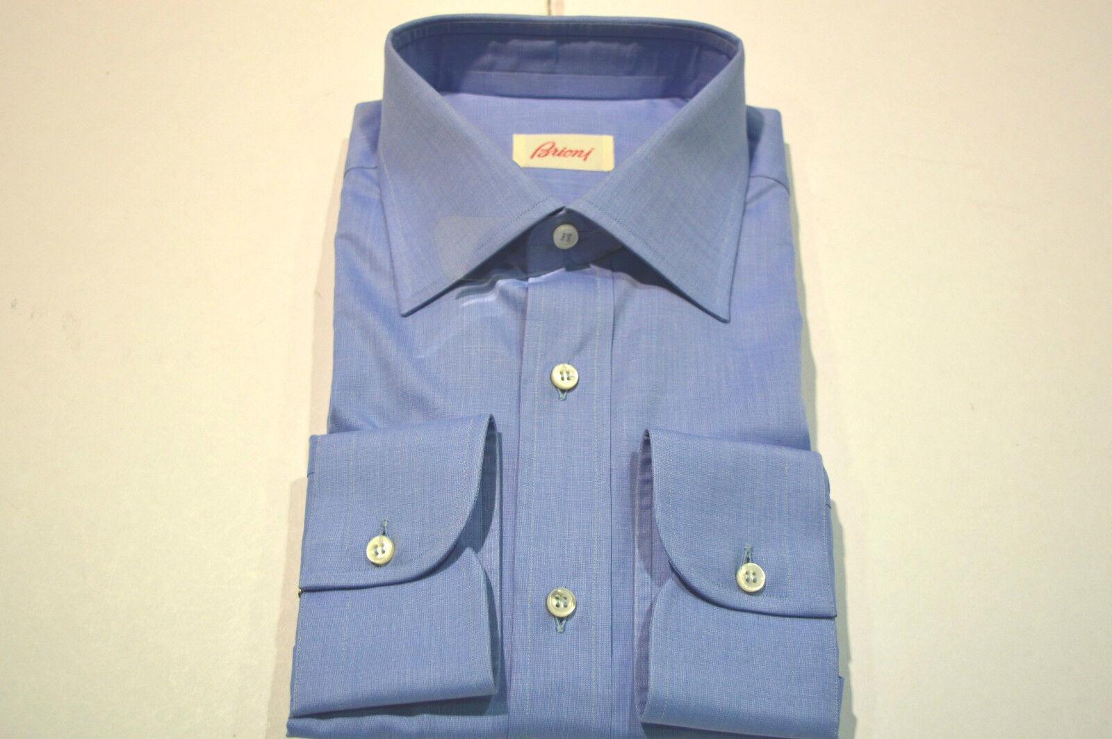 NEW  BRIONI Dress Shirt 100% Cotton Größe 15.75 Us 40  Eu (Cod SG 9)