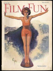 Hi-Grade-Film-Fun-Magazine-October-1924-Surfer-Girl-Pin-Up-Cover-Enoch-Bolles-NR