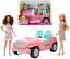 Barbie-Coffret-Poupees-et-Jeep-Cabriolet-Voiture-Convertible-Jouets-Fille-Mattel miniature 1