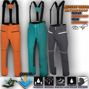 Mens-Ski-Trouser-Windproof-Sport-Pant-Waterproof-Snow-Winter-Salopettes-Intrinsi