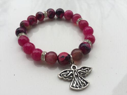 Señora pulsera brazalete fabricado a mano las piedras preciosas navidad invierno jade achat