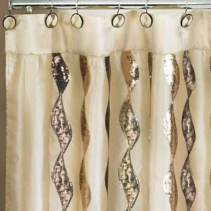 Popular-Bath-Shimmer-Gold-70-x-72-Fabric-Bathroom-Shower-Curtain