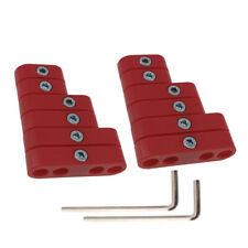2sets 7mm 8mm Red Spark Plug Wire Separators Looms For Mopar Ford Chevy 9723r