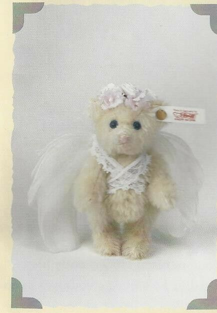 STEIFF'S CHRISTMAS ANGEL ANGEL ANGEL ORNAMENT.  EAN 666728 FEATHErosso WINGS 50ae6d