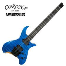 Corona Aphrodite APE-2000 Blue Jean Electric Guitar Flame EMG Headless Unique