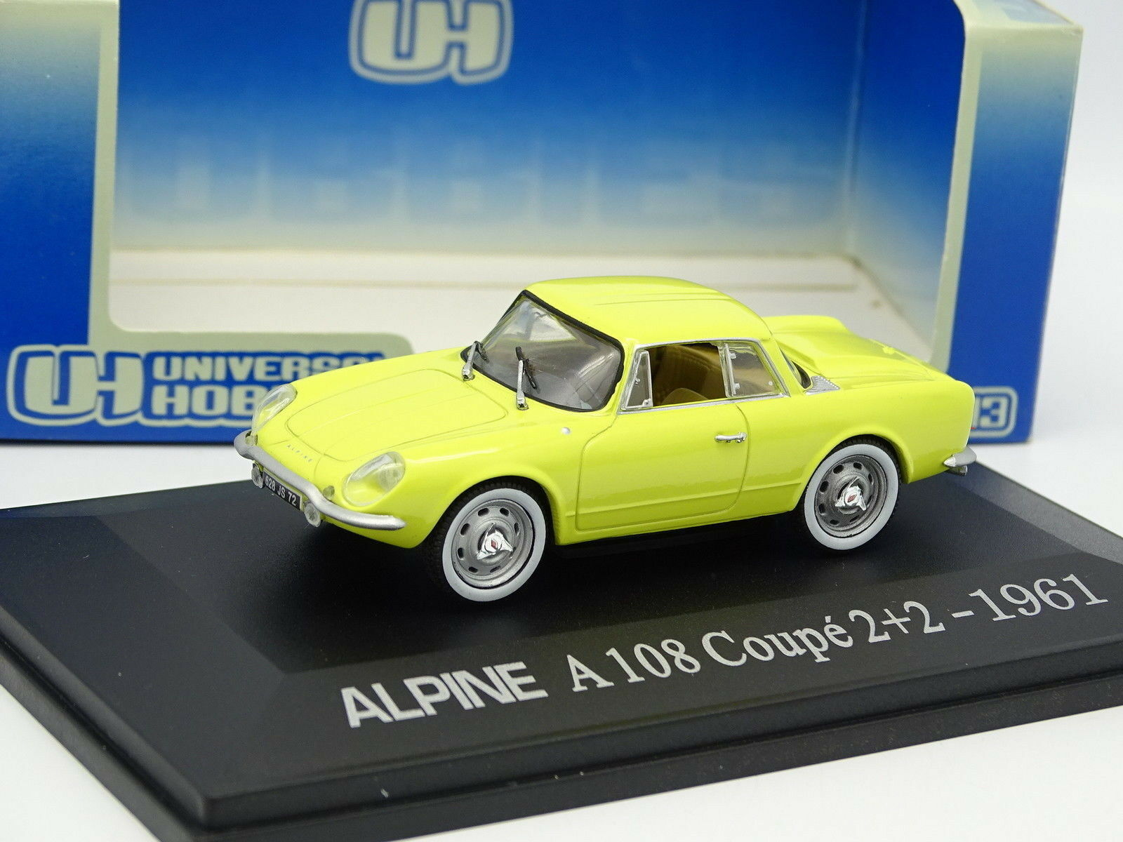 UH Universal Hobbies 1 43 - Alpine Renault A108 Coupe 2+2 1961 Yellow