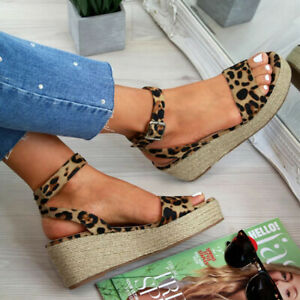 Womens-Ladies-Platform-Sandals-Wedge-Espadrille-Ankle-Strap-Comfy-Summer-Shoes