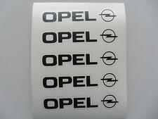 5x Opel Aufkleber Sitze Logo Schwarz Door Sticker Simbol ASTRA ZAFIRA CORSA etc.