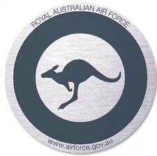 Royal Australian Air Force - RAAF Round Metallic Grey Sticker