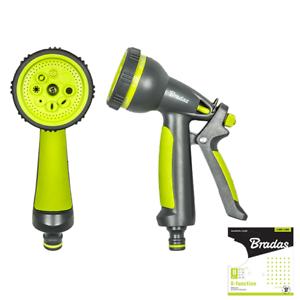 Nouveau 1 x Jardin de douche-Seringue 8 fonctions Lime Line le-2106 en plastique