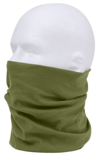 OD Olive Drab Multi Use Neck Gaiter Bandana Balaclava Headwrap Scarf Rothco 5305