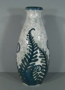 CAMILLE-THARAUD-ANCIEN-GRAND-VASE-PORCELAINE-EMAILLEE-LIMOGES-DECOR-FOUGERES