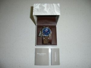 MENS-TOMMY-BAHAMA-BLUE-DIAL-BROWN-ROUGH-LEATHER-BAND-WATCH-NWT