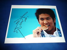 JUN'YA KOGA (Japan) signed Autogramm 20x25 cm In Person WELTMEISTER 2009 100m