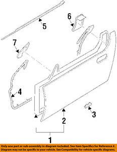 image is loading nissan-oem-300zx-door-window-sweep-belt-molding-