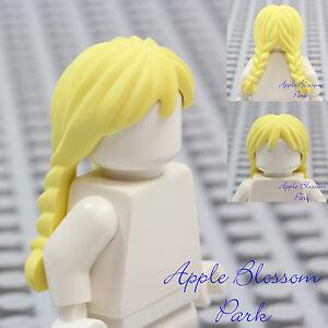 New Lego Girl Minifig Long Blonde Hair Female Braided
