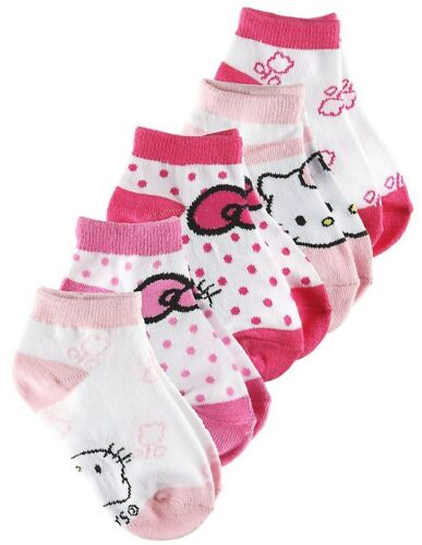Save ££££££ Hello Kitty Girls Sports Socks 5 pack