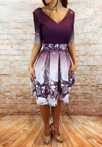 Event 42 Abendkleid Blumenmuster 36 Kleid Mini Hochzeit Party Abikleid 8HzHAnr